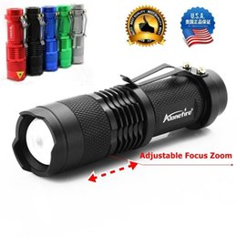 Wholesale Diving Flashing - OEM SK68 CREE XPE Q5 LED 3 mode Portable Zoomable Mini Flashlight torches Adjustable Focus flash Light Lamp For AA or 14500 Free Shipping