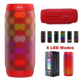 Wholesale Super Flash Lights - AEC Wireless Waterproof LED Portable Bluetooth Speakers BQ615 Pro Wireless Super Bass Mini Speaker Subwoofer with Flashing Lights FM TF Card