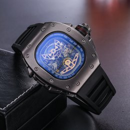 Wholesale Skull Stainless - Top Quality Casual Fashion Hollow Watches men Luxury brand Army Skull sport quartz watch