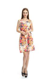 Wholesale Denim Long Maxi Dress - 2016 Vest Skirt Fresh Shivering Chiffon Suit-dress Maxi Women Beach Dress Fashions Long Sleeves Summer Work Denim Casual Cheap Dresses