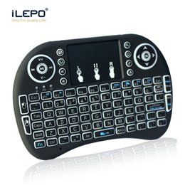 Wholesale Mouse Support - Mini Rii I8 wireless keyboard 2.4G Fly Air Mouse for Android Tv box tablet mini keyboard Remote Control with Rechargeable Li-battery