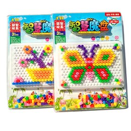 Wholesale Nail Hold - Educational diy kits mushrooms nails puzzle toys children hold opportunely opportunely nail bead combined creative building blocks