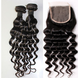 Wholesale Cheap Loose Curly Brazilian Hair - Hot Sale Brazilian Hair Cheap Unprocessed 8A Peruvian Brazilian Indian Malaysian Hair Extension Hair Loose Curly With Closure Free Shipping