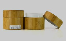 Wholesale Manufacturer Bamboo - 50g bamboo jars for comestic ceramic wax with PP inner painting logo containers 2017 hot new product wholesale manufacturer
