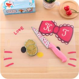 Wholesale Kawaii Desk - Wholesale-Kawaii Hello Kitty Rectangle Portable Cutting Board.Kids Cup Table Pads Mats.Placemats.Dinning Tableware Desk Pad Kitchen Mat