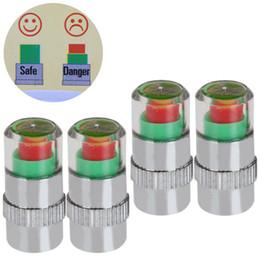 Wholesale Tire Pressure Alert Valve Caps - 4 x 2.4 Bar Tyre Pressure Air Alert Tire Valve Stem Caps For Auto Car CEC_749