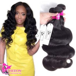 Wholesale Weaves Hair Piece Prices - 3 Bundles Peruvian Body Wave Peruvian Virgin Hair Body Wave Brazilian Malaysian Indian Hair Dyeable 8A Factory Price Cheap Human Hair Weave