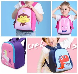 Wholesale Monkey Backpacks - cartoon unicorn backpack school backpack girls Unicorn monkey rabbit Dinosaur Backpack schoolbag for 3-6T kids KKA2882