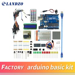 Wholesale Arduino Uno Breadboard - Starter Kit For UNO R3 Upgraded Version arduino basic kit LCD 1602 Breadboard mega 2560 DIY Project high quality