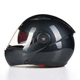 Wholesale Helmet Flip - Wholesale- 2016 NEW STYLE CARBON FIBER COLOR RACING HELMET Flip Up Motorcycle casco Helmets racing helma motorcross Helm helmet