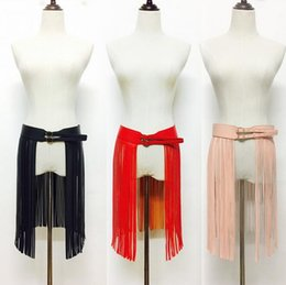 Wholesale Leather Clothes Wholesale - Wholesale- Hot Sale Fashion Belts for women clothing PU Leather belt female Wide long tassel strap Gold waistband Woman High quality