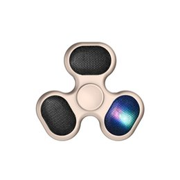 Wholesale Bear Speakers - Fidget Spinners 608 Metal Bearing Hand Spinner With Bluetooth Speaker LED Lights ABS Spinners EDC Anti-stress Decompression Fidget Toy