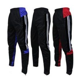Wholesale Sport Shorts Slim Pants - 2017 NEW Football pants feet pants training pants pocket with zipper receive running fitness cycling shorts male sports pants. Free shipping