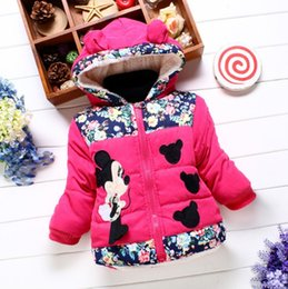 Wholesale New Age Clothing - 3 colors New 2017 Autumn & Winter Children Minnie Hoodies Jacket & Coat Baby Girls Clothes Kids Toddle Outerwear Warm Coat Age 1-4T