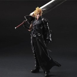 Wholesale Fantasy Models - Final Fantasy Action Figure Play Arts Kai Cloud Strife Collection Model Toy PLAY ARTS Final Fantasy Cloud Strife Playarts Doll