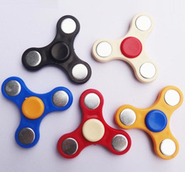 Wholesale Bearing Axis - Triangle Hand Spinner toy Fidget Spinners ABS 5 Colors Torqbar Bearing axis EDC Finger Tip Rotation anxiety HandSpinner DHL