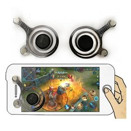 pieles al por mayor xbox Rebajas Fling mini Joystick móvil Joystick analógico dual Clip inteligente para Samrtphone Gaming iPad pod Toque iPhone 7 con caja para minoristas F991