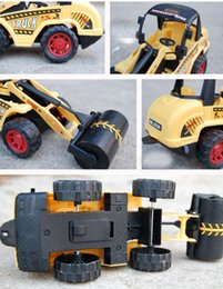 Wholesale Projects Construction - Children's toy car project car 19CM truck back to power construction vehicles excavators dig earth pressure clamp truck