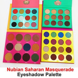 Wholesale Shadow Professional - Professional Eyeshadow Palette Masquerade 16 color Eye shadow Palette 12 color Eyeshadow Yellow Purple Green Red makeup Nubian Saharan