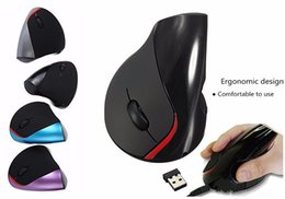 Wholesale Brand Computer Mouse - DHL fashion brand Wireless mice Computer Accessories mice Ergonomic gaming mice Design Optical Wireless mouse vertical for gifts