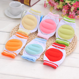 Wholesale Baby Knit Tights - 7colors Baby mesh knitting sponge knee pads elbow pad 13cm baby foam crawling safty protection props infants leg warmers