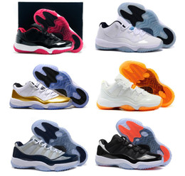 Wholesale green lifestyle - Cheap 11 Basketball Shoes Mens Bred Citrus Concord Bred Georgetown GS Sneakers Designer Low XI 11s For Men Women Size Eur 41-47