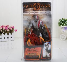Wholesale God War Action Figures - 7 inch GOD of WAR Kratos Flame version Action Figures christmas gift
