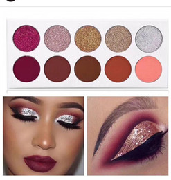 Wholesale Glitter Shop - 2017 Hot Brand Glamierre glitz glam 10 Color Eyeshadow palette Matte Glitter Eye shadow Makeup Glamierre palette free shopping .