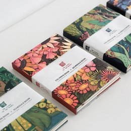 Wholesale Hardcover Journals - Wholesale- Mercii New Arrival Flora Notebook X Hardcover Korea Stationery Flowers Notepad Journal Diary Xmas Gift Coloring Schedule Books