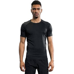 Wholesale Tights Shorts For Men - Men's Compression Running Shirts Sport Tights Suit For Fitness Spandex Quick Dry Breathbale Aerobics Black Short Sleeve jogging gym T-shirts