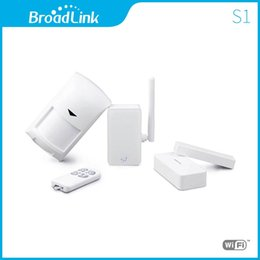 Wholesale Home Security Pir Camera - Wholesale- Broadlink S1 S1C SmartONE PIR Motion Door Sensor,Wifi Remote Control Smart Home Automation Alarm&Security System Via IOS Android