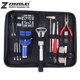 Wholesale High Quality Watch Repair Kits - Wholesale-2014 Free shipping 18 set New High Quality Practical table tool watch repair tool kit clock kit strap down the bottom opener