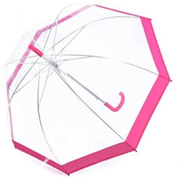 Wholesale High Fashion Umbrella - High Quality New Design Princess Umbrella Fashion Women Transparent Umbrella Long Handle Umbrella Free Shipping 20Pcs