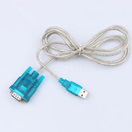 Wholesale Pc Serial Port - New USB 2.0 to RS232 COM Port Serial PDA 9 pin DB9 Cable Adapter CH340 Male to Male adapter Support Windows 7 PC