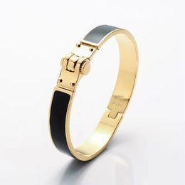 Wholesale Horseshoe Sets - Wholesale high quality titanium bracelet bracelet 18K H black gray orange golden horseshoe buckle bracelet