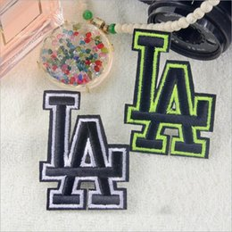Wholesale Iron Applique Letters - 10pcs Iron On Patch For Clothing Jacket Patches Letters parches ropa Embroidered Jeans Fabric Patchwork Garment Motif Stage Badge Appliques
