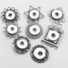Wholesale 14k Brooch - Free shipping 8 Styles brooch Snap button Jewelry Christmas gift for girls women (fit 18mm 20mm snaps ) XJ006 jewelry making,DIY