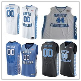 Wholesale Sleeveless Number - Mens North Carolina Tar Heels College Basketball Custom #2 5 11 15 23 White Black Blue Stitched Personalized Any Name Number Jerseys S-3XL