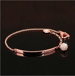 Bracelets de style nouveau style en Ligne-OL Style Cubic Zirconia Ball Mode Charme Bracelets Bracelets Rose Or Couleur Cristal Bijoux Cadeau Mode Accessoires Pour Femmes nouveau