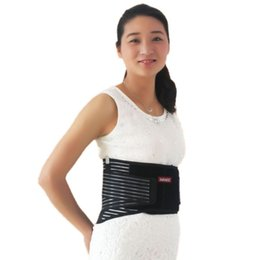 Wholesale Tourmaline Bands Wholesale - Wholesale- Fitness Adjustable Tourmaline Self-heating Magnetic Therapy Waist Belt Lumbar Support Back Waist Support Brace Double Banded