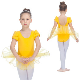 Wholesale Girls Ballet Dance Tutu - Ballet Dancing Dress Cap Sleeve Cotton Lycra Leotard Soft Tulle Skirt for Kids and Girls Tutus Full Sizes 10 Colors Available