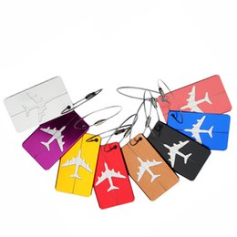 Wholesale Steel Suitcases - Travel Luggage Tags Suitcase Luggage Tags, Bag Tag Travel ID Labels Tag For Baggage Suitcases Bags with Stainless Steel String