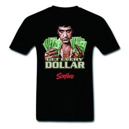 Canada Pop Art Scarface Al Pacino Obtenez chaque dollar 100% coton T-shirts frais Mode graphique Tee Fitness Offre