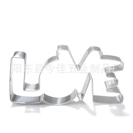 Wholesale Mould Steels - Stainless Steel Cookies Mould LOVE Letter Shape Forms Metal Mold Smooth Surface Firm Durable Cake Molds Baking Tool 2 2jj B