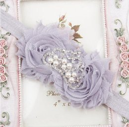 Wholesale Soft Band For Hair - Hair Accessories Toddler Infant Crystal Crown Flower Bowknot Headbands Baby Soft Diamond Fabric Hair Band headband for baby YH425
