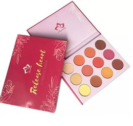 Wholesale New Nake - New brand Aurelife Liberties Release Heart Pressed Powder Nake Shadow Palette Matte & Shimmer 12 color Eye Shadow Palette Heat Eyeshadow