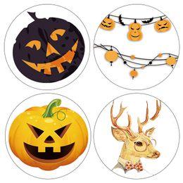 Wholesale Halloween Washi Tape - Wholesale- 2016 DIY Japanese Paper Washi Tapes Halloween Pumpkin Deer Masking Tapes decorative Adhesive Tapes 15mm*10m Alideco