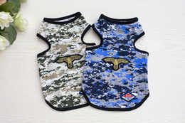 Wholesale Dog Cooling Vests - 2017 New Fashion Design Summer Pet Camouflage Uniform Vests Dog Boy Cool Army Clothing Apparel for Puppy Wholesale