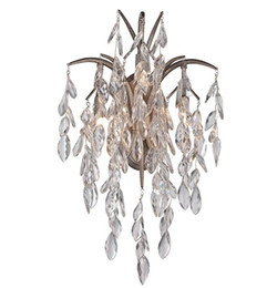 Wholesale Crystal Chandelier Wall Sconces - 2016 New Fashion Crystal chandeliers Wall lamp Sconce LED Light Vintage wall light in wholesale price LLFA
