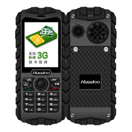 Wholesale Dual Band 3g - HUADOO H3 IP68 Waterproof Outdoor 3G Rugged Phone Quad Band Dustproof Shockproof FM Flashlight 2.4 inch Senior Cell Phone Unlocked